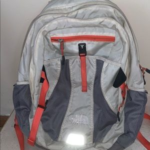 Used White and Tangerine north face
